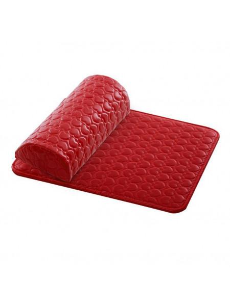 Подлокотник+коврик для маникюра красный