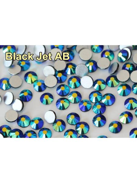 Стразы AB (ГОЛОГРАФИК) Jet black ss6. Упаковка 1440 шт.
